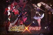 Promotional Material of Ruby and Weiss for Knights Chronicle X RWBY collaboration