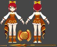 Amity Arena concept art of Pyrrha's Valentine outfit