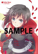 Illustration postcard of Ruby Rose for Japanese Dub Volume 3 by mojojoj
