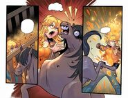 RWBY DC Comics 2 (Chapter 3) Yang activate her Semblance after she scared a horse to kick her