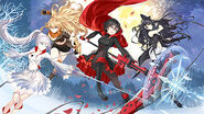RWBY Mobile Game (Full Game, 2019) Illustration of Team RWBY