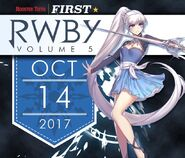 RWBY Volume 5 promo material Weiss Schnee