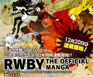 Promotional material of Team RWBY for RWBY The Official Manga