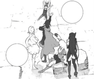 Chapter 19 (2018 manga)Team RWBY after the grimm invasion in Vale