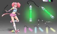 V3e5 neon weapon concept art