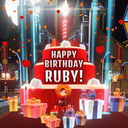 Amity Arena promotional material Ruby's birthday 2019 celebration
