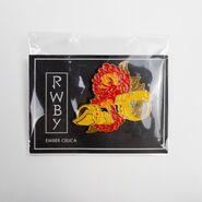 RWBY Ember Celica Floral Pin