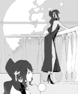 Chapter 13 (2018 manga) Pyrrha alone stare at the night sky