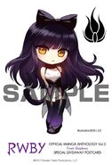 Chibi illustration of Blake Belladonna for RWBY Manga Anthology From Shadows by Ein Lee