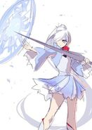 RWBY Manga Anthology concept art cover of Weiss by Ein Lee
