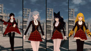 RWBY GE DLC screenshot of Team RWBY Beacon Academy Costume