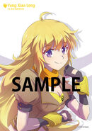 Illustration postcard of Yang Xiao Long for Japanese Dub Volume 3 by mojojoj