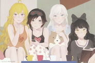 Team RWBY (RWBY Official Japanese Fanbook, Illustration,Kei Toume)