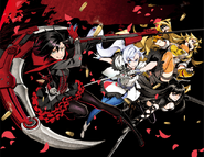 RWBY manga illustration opening cover