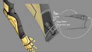 Concept art yang metal arm gun