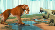 Sid tells Diego that he'll have to conquer his aquaphobia