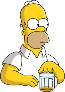 Homer Simpson Vector by bark2008