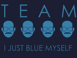 Team i just blue myself flag