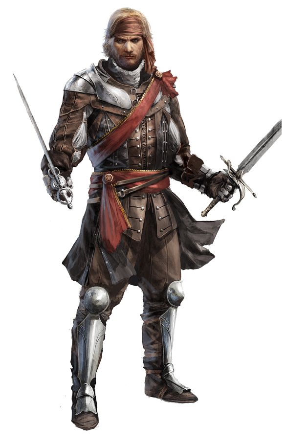 Male Pirate Captain Concept Art