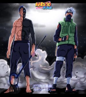 The two mangekyou obito and kakashi by espadazero-d789nvx