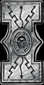 Metalic invictus symbol by m1kh43l