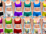 12 Sports Bra/Shorts Combo Recolors by The Simsperience
