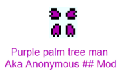 Purple palm tree man
