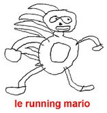 Le running mario