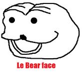 Le bear face