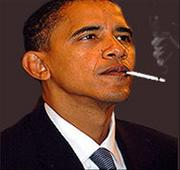Obama smoking a cigarette2