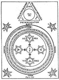 Magisches Dreieck und Magischer Kreis des Salomon