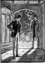 Holmes und Musgrave betreten den alten Teil des Gutshauses