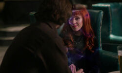 Sam konfrontiert mit Rowenas Astralprojektion