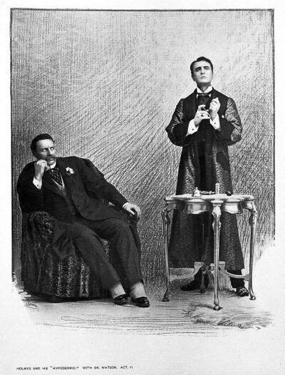 Retuschiertes Szenenfoto William Gillette als Sherlock Holmes