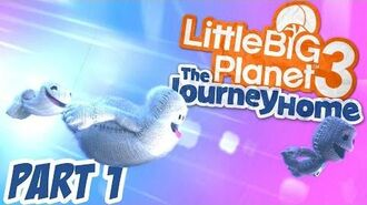 LittleBigPlanet 3 - The Journey Home 100% Walkthrough Part 1 - Bone-a-Fide Ride - LBP3 PS4