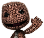 Waving Sackboy