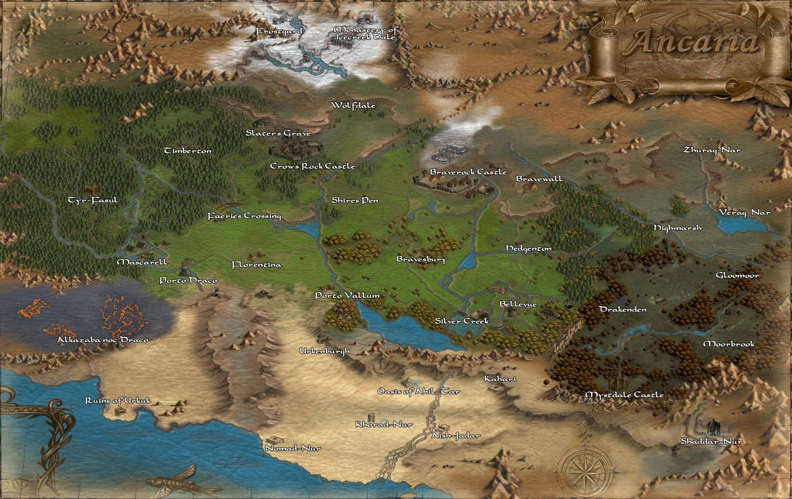 Continent sacred wiki fandom powered by wikia fullmapzb5 map of ancaria world of sacred gumiabroncs Choice Image