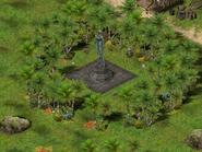 Остров Вулкана, статуя серафима 4