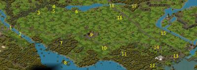 Равнина Серебряного Ручья (с отметками)