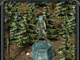 Статуя эльфа (замок «Скала воронов»)