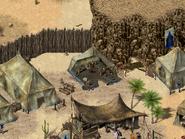Оазис Ахил-Тар, палатка барона