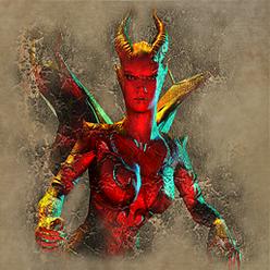 Демоница портрет