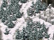 Монастырь серафимов, статуя серафима север 4