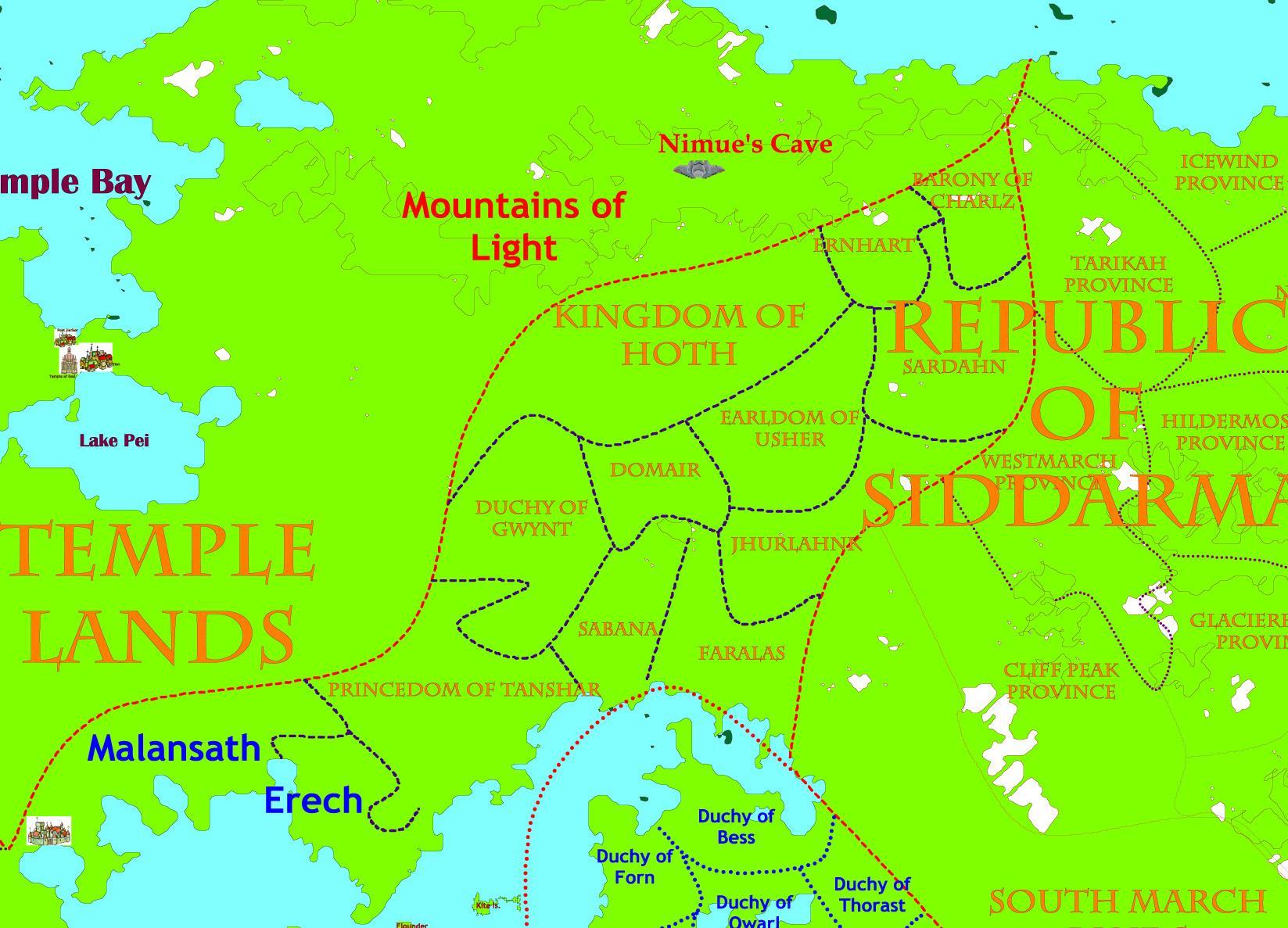 Border States Map