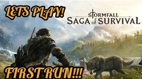Stormfall Saga of Survival (Ep. 01) Starting out, Gameplay building a base