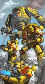 Puños Imperiales Escuadra Táctica Dreadnought Contemptor