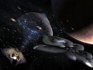 Flota Covenant pasando Marte