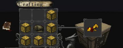 Gold horsearmor