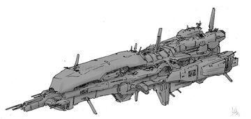 Space cruiser 1 by MeganeRid