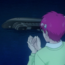 Kusuo sees shipwreck